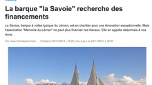 "Report on Barque La Savoie on ""France 3 Alpes"""