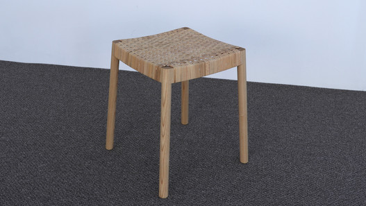 stool_white ash oil finish