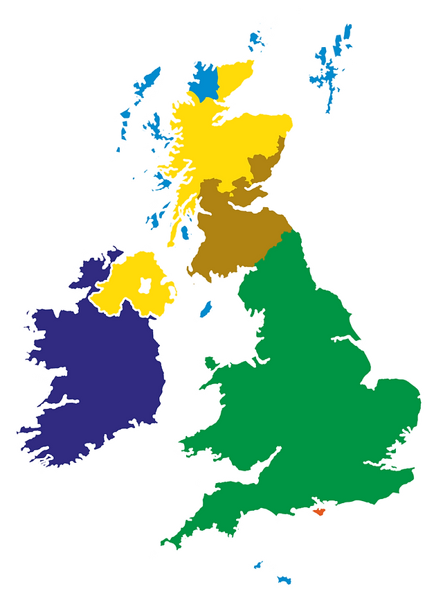 graphic map of the uk delivery zones