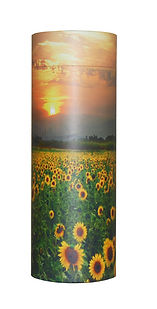 photograph of funeral cremation ashes scatter tube sunflower design mark forth lincolnshire