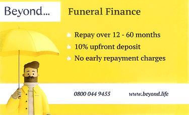 beyond funeral finance advert