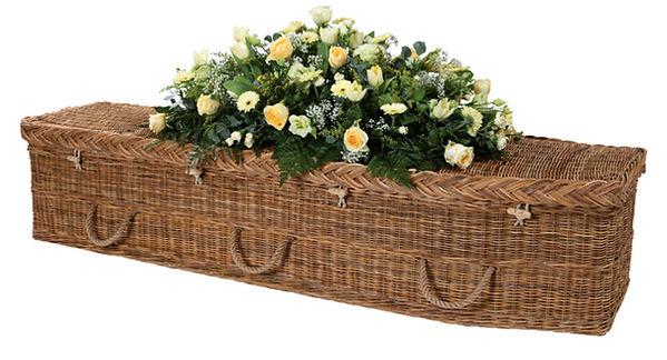 willow wicker casket coffin green burial