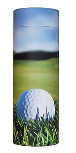 photograph of funeral cremation ashes scatter tube golf scene design mark forth lincolnshire
