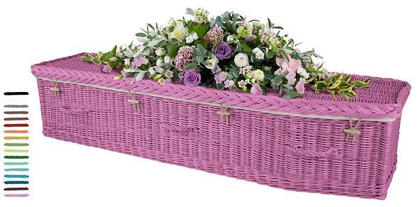 coloured willow coffins caskets willow wicker casket coffin green burial