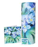 photograph of funeral cremation ashes scatter tube forget me not flower design in mark forth lincolnshire
