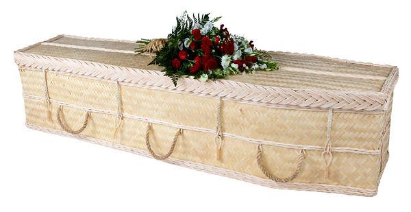 bamboo casket coffin green burial