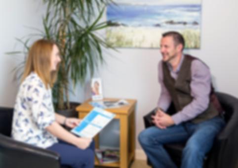 photo showing privatedental centre client consultation