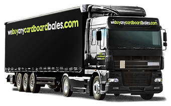 photograph of webuyanycardboardbales.com lorry