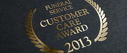 photograph of funeral service customer care award