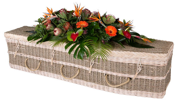 seagrass casket coffin green burial