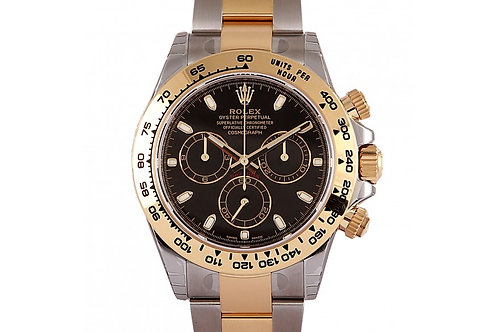 Rolex Cosmograph Daytona Black Dial 40mm Steel & Yellow Gold
