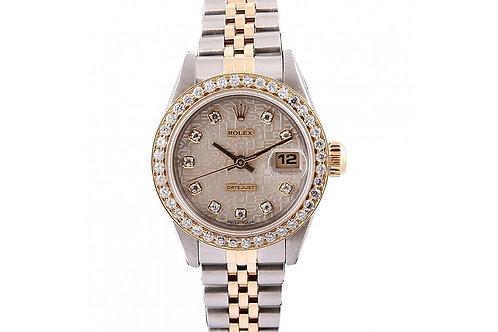 Rolex Datejust Jubilee Diamond Dial 26mm Steel & Yellow Gold