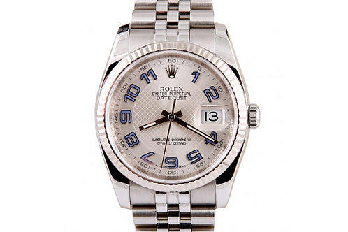Rolex Datejust Silver Dial 36mm Steel & White Gold