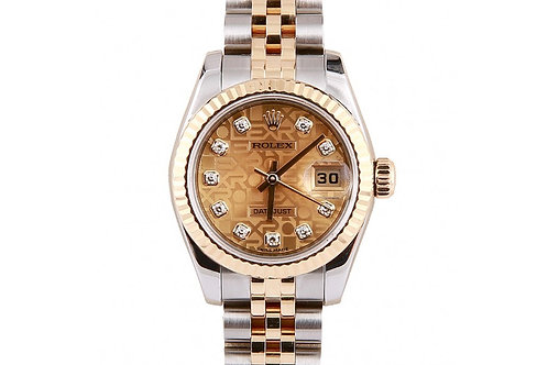 Rolex Datejust Champagne Jubilee Diamond Dial 26mm Steel & Yellow Gold