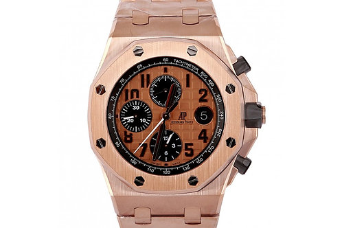 Audemars Piguet Royal Oak Offshore Chronograph Pink Dial 42mm Rose Gold