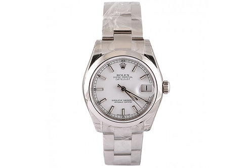 Rolex Datejust Steel 31mm Steel with White Dial
