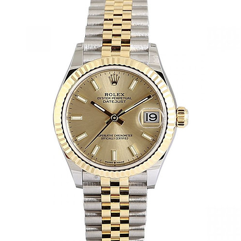 Rolex Datejust Champagne Dial 31mm Steel & Yellow Gold