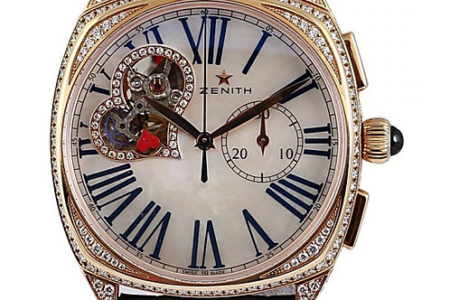 Zenith Star Mother of Pearl Roman Dial Rose Gold Diamonds 37mm