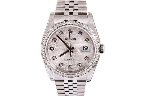 Rolex Datejust Jubilee Diamond Dial 36mm Steel & White Gold