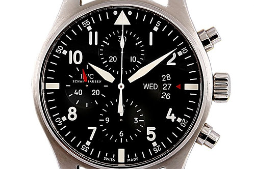 IWC Pilot Chronograph Steel 43mm Black Dial