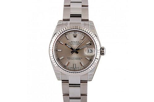 Rolex Datejust Ladies Silver Dial 31mm Steel