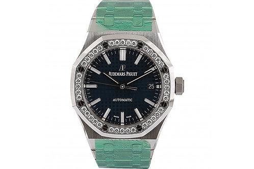 Audemars Piguet Royal Oak Blue Dial 37mm Steel & Diamonds