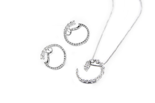 Diamond Earring and Pendant