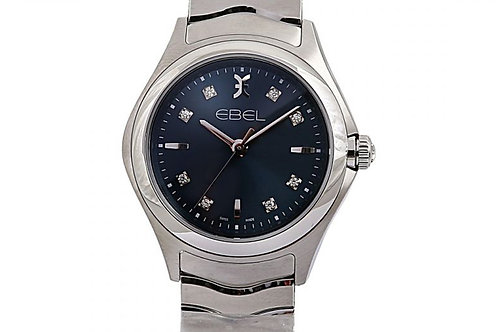 Ebel Wave Blue Diamond Dial 30mm Steel
