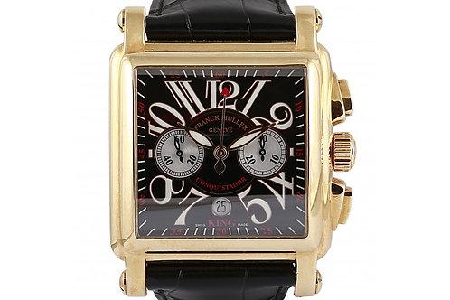 Franck Muller Conquistador Cortez Chronograph Black Dial 45mm Rose Gold