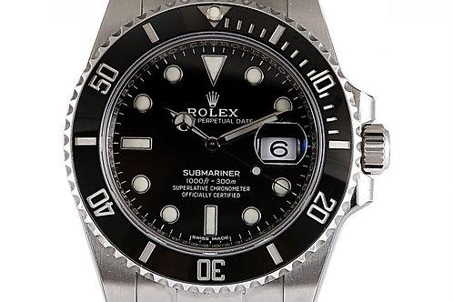 Rolex Submariner Date Black Dial Steel 40mm