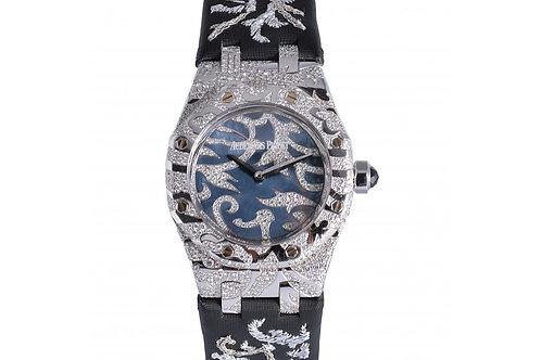 Audemars Piguet Lady Royal Oak Mother of Pearl Diamonds Dial 33mm White Gold & D