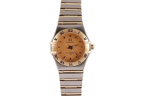 Omega Constellation Champagne Dial 22.5mm Steel & Yellow Gold
