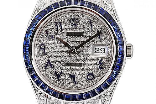 Rolex Datejust 41mm Aftermarket Diamond Dial & Bracelet Steel