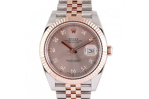 Rolex Datejust 41 Sundust Diamond Dial Steel & Rose Gold