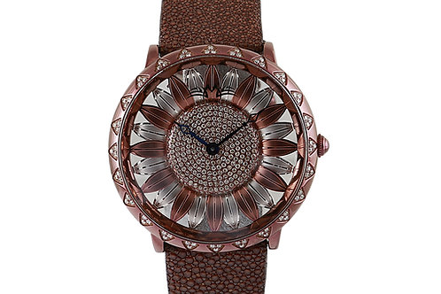 Montreux Brown Sunflower Dial with Diamonds 45mm