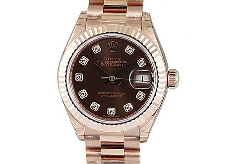 Rolex Datejust Chocolate Diamond Dial 28mm