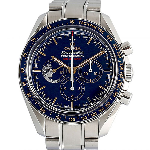 Omega Speedmaster Moonwatch Anniversary Blue Dial 42mm Steel