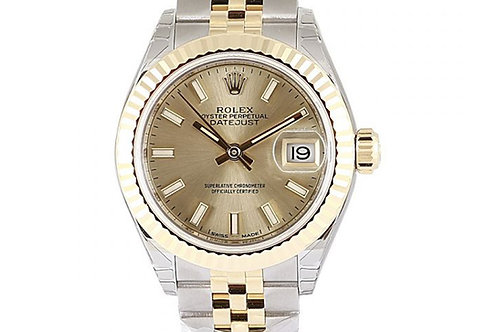 Rolex Datejust Champagne Dial 28mm Steel & Yellow Gold