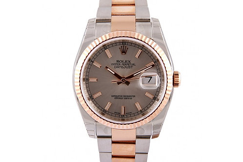 Rolex Datejust Grey Dial 36mm Steel & Rose gold