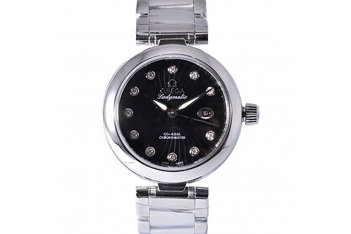 Omega De Ville Ladymatic Co-Axial Black Dial with Diamonds 34mm Steel