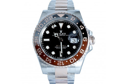"Rolex GMT-Master II ""Root Beer"" Black Dial 40mm Steel & Rose Gold"