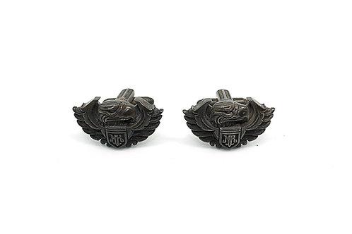 Knight Rider USA Aquilla Mens Cufflinks 925 Silver Black