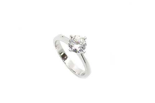 Single Solitaire Diamond & Gold Ring