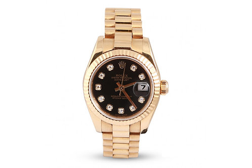 Rolex Lady-Datejust 26 Yellow Gold & Diamonds