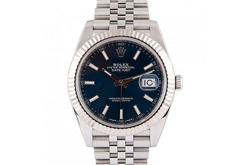 Rolex Datejust Blue Dial 41mm Steel Jubilee Bracelet