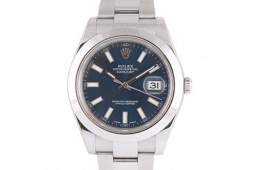 Rolex Datejust II Blue Dial 41mm Steel