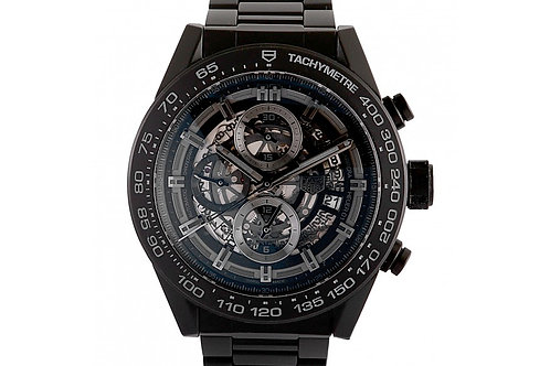 Tag Heuer Carrera Chronograph Skeleton Dial 45mm Ceramic