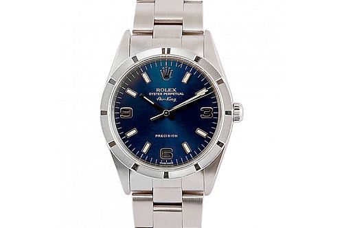 Rolex Air-King Precision Blue Dial 34mm Steel