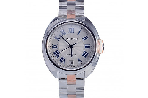 Cartier Cle Silver Dial 35mm Steel & Rose Gold