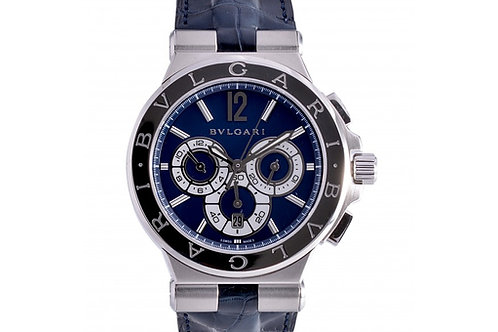 Bvlgari Diagono Chronograph Limited Edition Blue Dial 42mm Steel